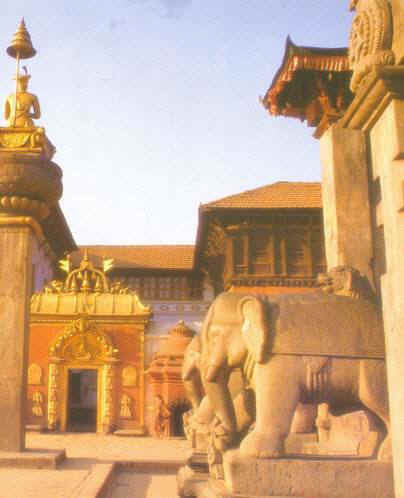 Непал. Фотография дворцовой площади Бхактапура
