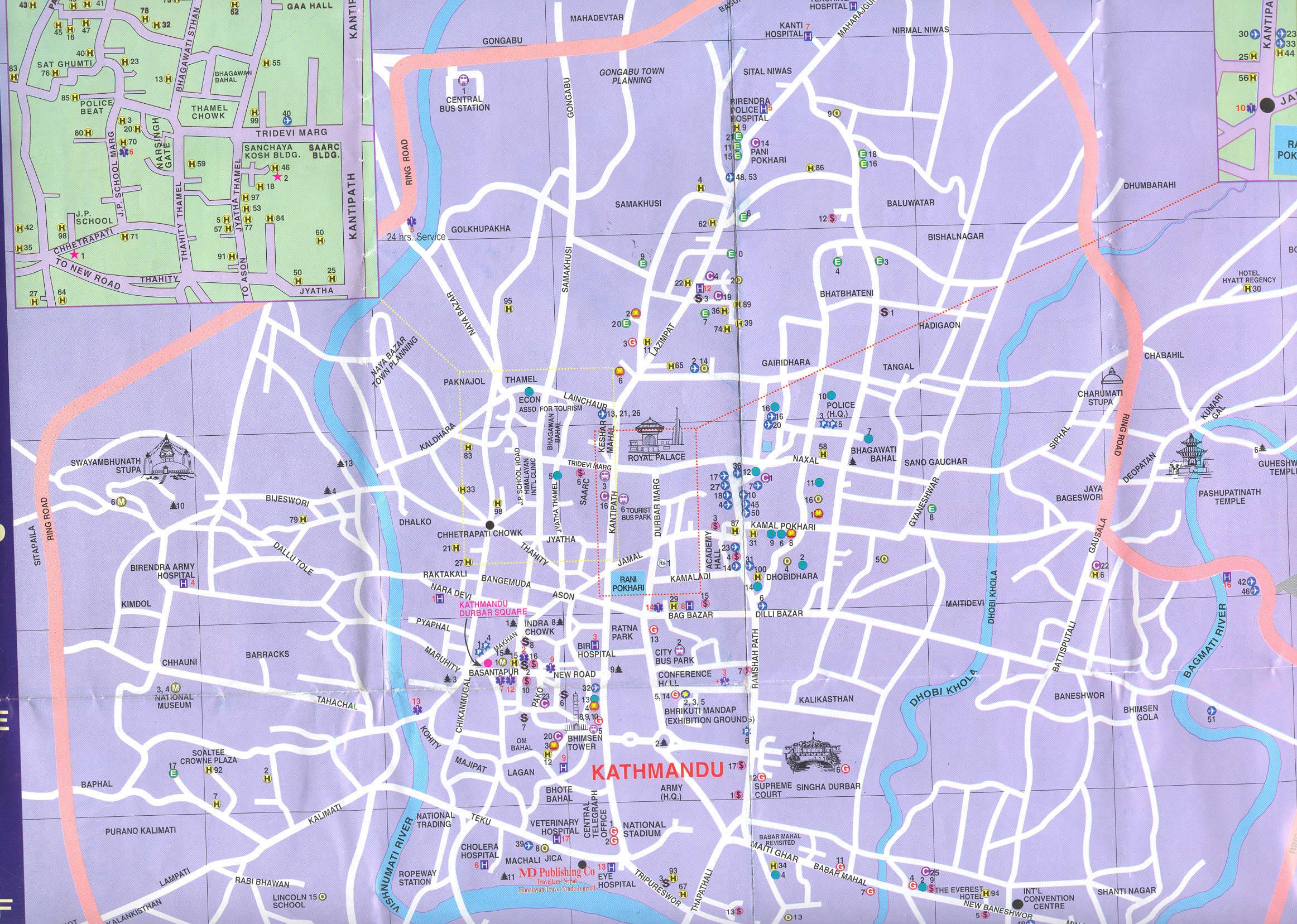 Карта Катманду \ Kathmandu map